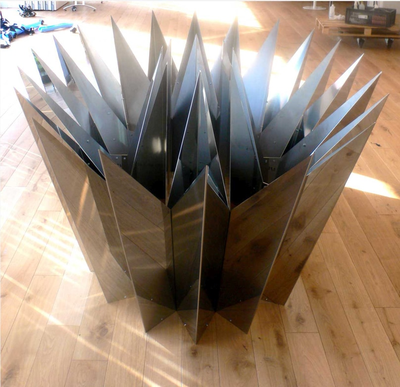 Table charlotte table sur mesure m talobil ing nierie for Mobilier japonais nantes
