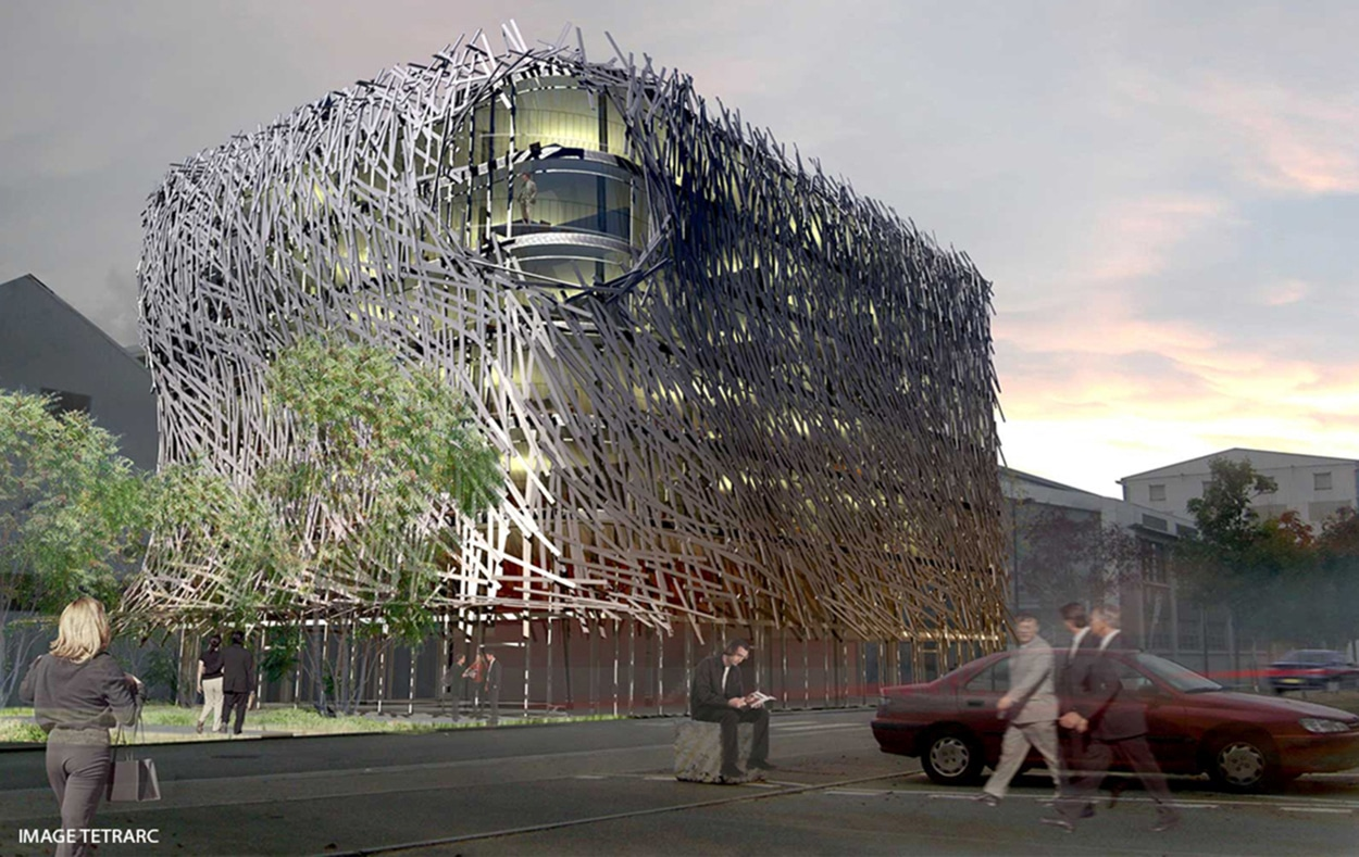 Immeuble manny habillage fa ade aluminium m talobil for Mobilier japonais nantes