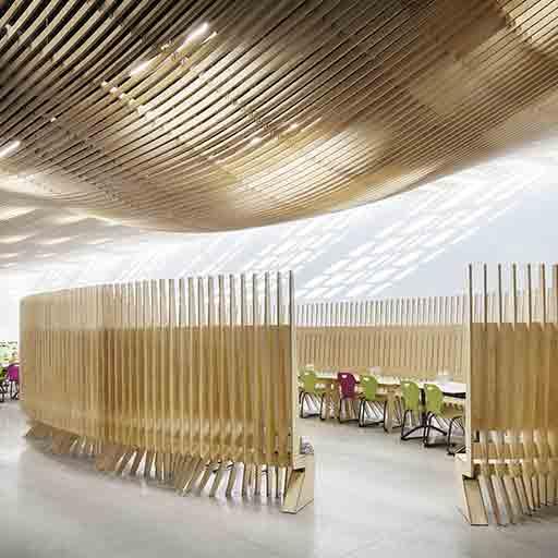 plafond et mobilier bois sur mesure