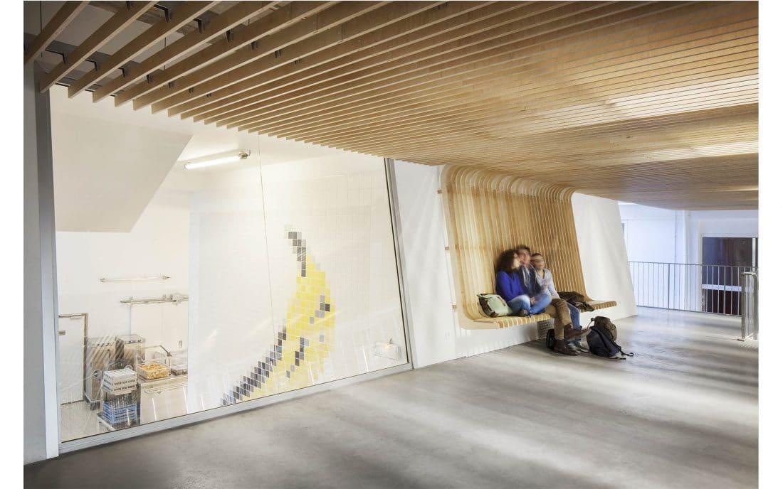 Plafond lames courbes
