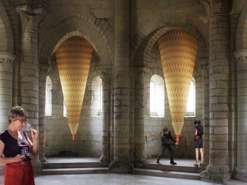 .//installation éphémère abbaye