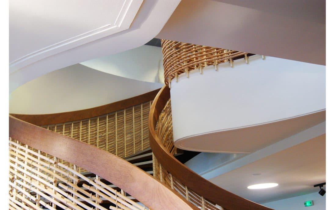 escaliers en rotin