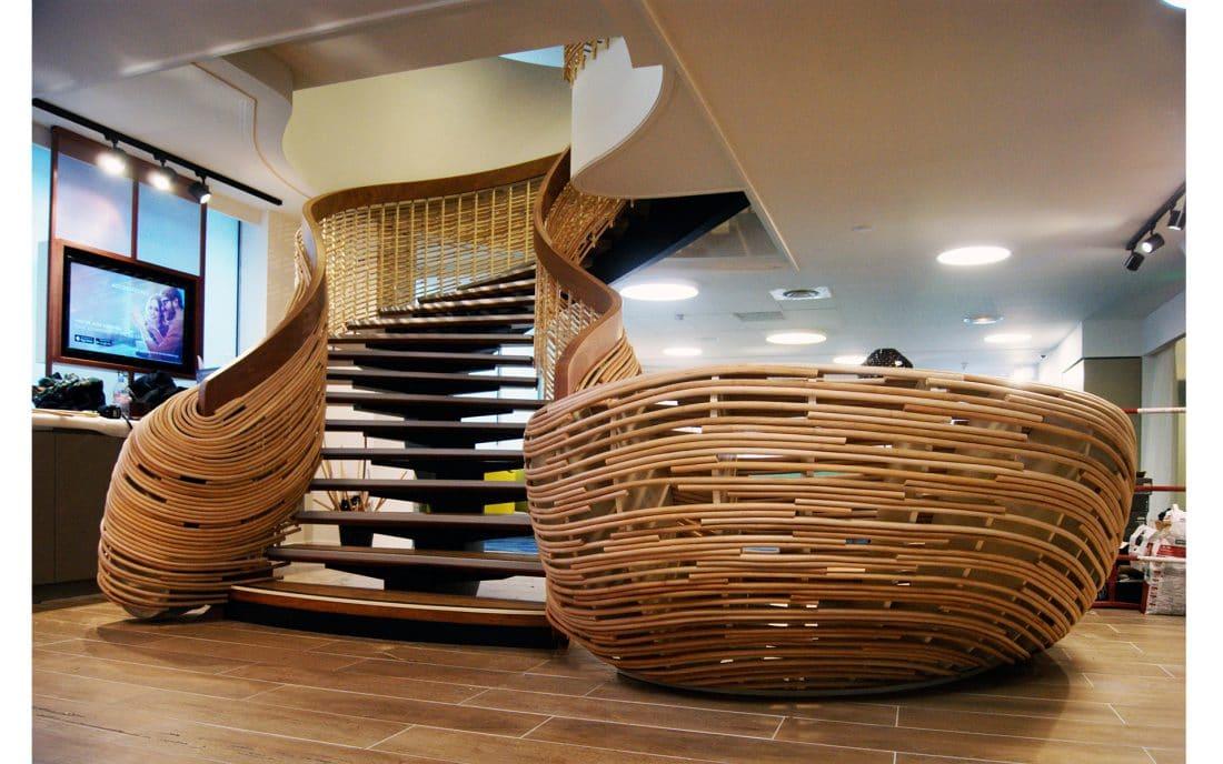 Escaliers en rotin mercure toulouse metalobil design 44 for Mobilier japonais nantes