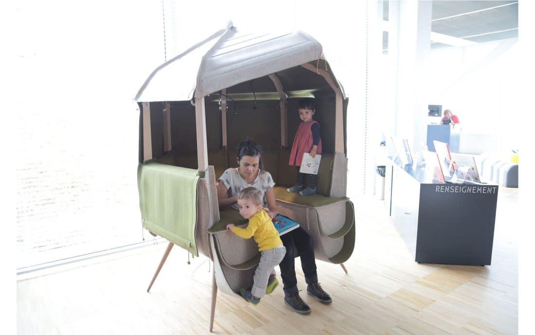 mobilier de médiathèque pour enfants