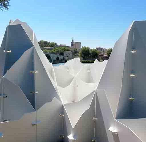 Texture de la houle Vincent Mauger oeuvre d'art festival d'avignon