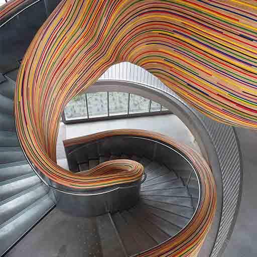 Escalier hélicoidal rotin acier Métalobil Tolefi