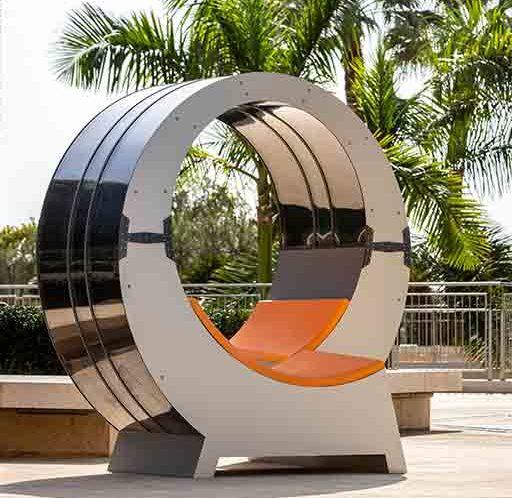 Banc énergie solaire mobilier urbain design Armor OPV